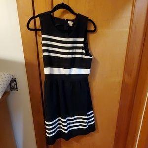 J Crew Black & White dress